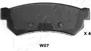 Ashika 51-0W-W07 - Piduriklotsi komplekt,ketaspidur japanparts.ee