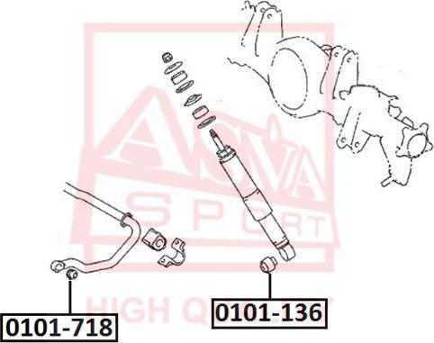 ASVA 0101-718 - Puks, ratta vedrukinnituse hoovad japanparts.ee