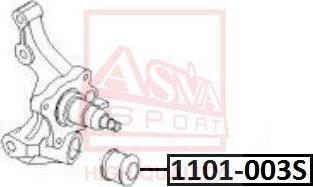 ASVA 1101-003S - Puks, ratta vedrukinnituse hoovad japanparts.ee