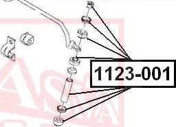 ASVA 1123-001 - Stabilisaator,Stabilisaator japanparts.ee