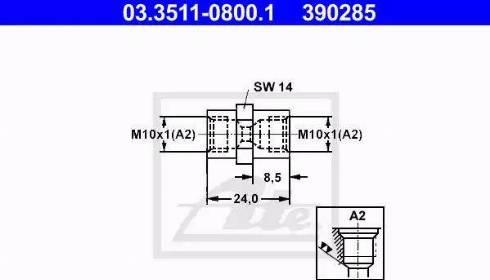 ATE 03.3511-0800.1 - Adapter, piduritorustik japanparts.ee