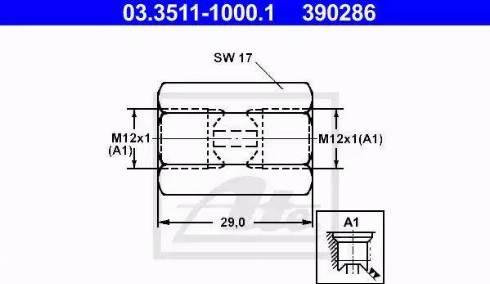 ATE 03.3511-1000.1 - Adapter, piduritorustik japanparts.ee