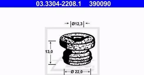 ATE 03.3304-2208.1 - Kork, pidurivedelikuanum japanparts.ee