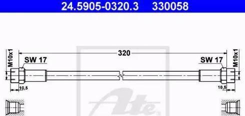 ATE 24.5905-0320.3 - Sidurivoolik japanparts.ee