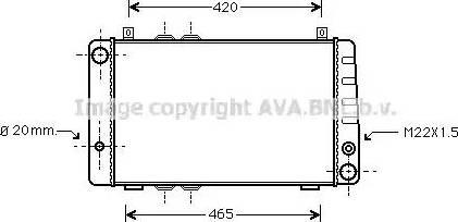 Ava Quality Cooling SA2002 - Radiaator,mootorijahutus japanparts.ee