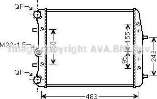 Ava Quality Cooling SAA2005 - Radiaator,mootorijahutus japanparts.ee