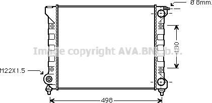 Ava Quality Cooling VNA2040 - Radiaator,mootorijahutus japanparts.ee