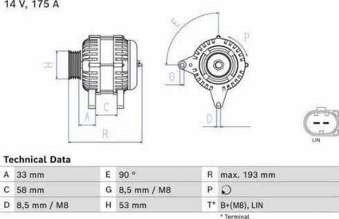 BOSCH 0 986 081 850 - Generaator japanparts.ee
