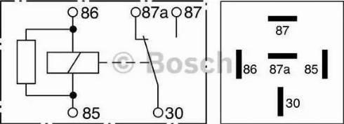 BOSCH 0 332 209 206 - Relee, ABS japanparts.ee
