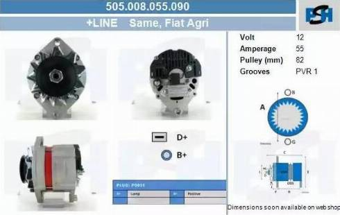 CV PSH 505.008.055.090 - Generaator japanparts.ee