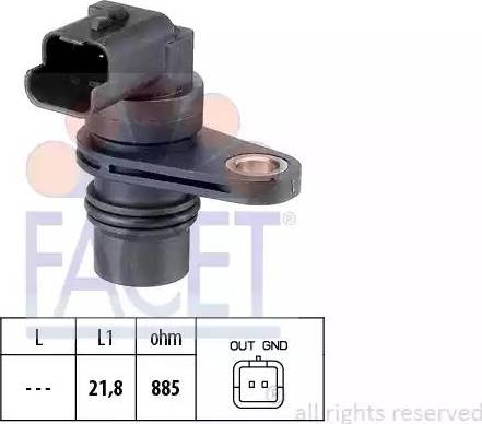 FACET 9.0487 - Pööreteandur, automaatk.kast japanparts.ee