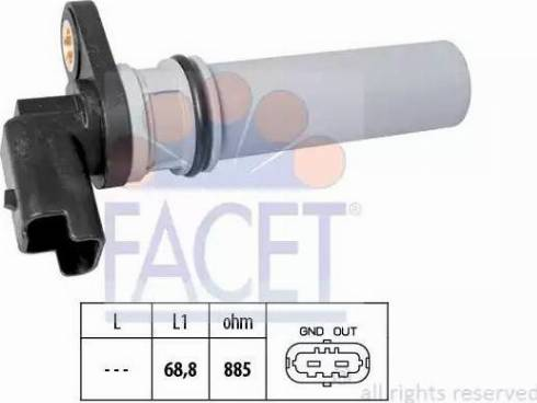 FACET 9.0537 - Pööreteandur, automaatk.kast japanparts.ee