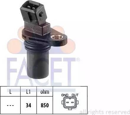 FACET 9.0354 - Pööreteandur, automaatk.kast japanparts.ee