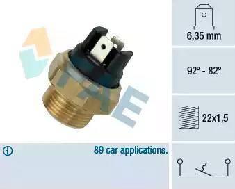 FAE 37320 - Temperatuuri lüliti, radiaatori / konditsioneeri ventilaator japanparts.ee