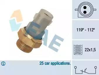 FAE 37700 - Temperatuuri lüliti, radiaatori / konditsioneeri ventilaator japanparts.ee