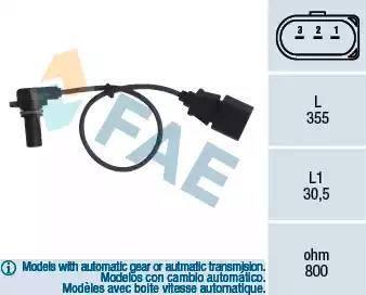 FAE 79062 - Pööreteandur, automaatk.kast japanparts.ee