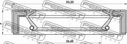 Febest 95GAY-32530707R - Võlli rõngastihend, manuaalk.kasti peavõll japanparts.ee