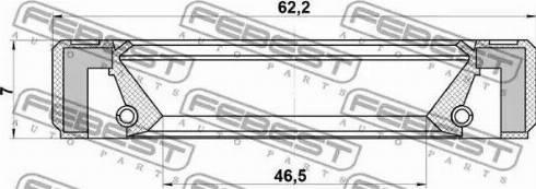 Febest 95GBY-48620707R - Võlli rõngastihend,diferentsiaal japanparts.ee