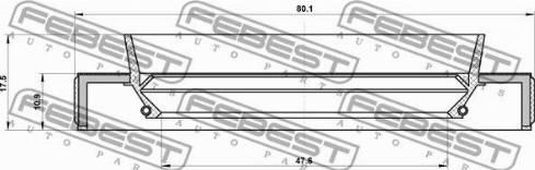 Febest 95HBY-49801118L - Võlli rõngastihend,diferentsiaal japanparts.ee
