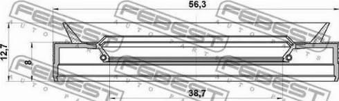 Febest 95PES-40560813C - Võlli rõngastihend,automaatkäigukast japanparts.ee