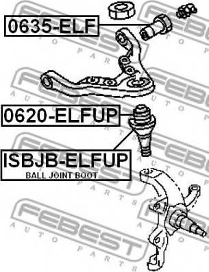 Febest 0635-ELF - Õõtshoova toestus japanparts.ee
