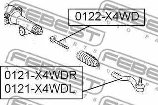 Febest 0122-X4WD - Sisemine rooliots,roolivarras japanparts.ee