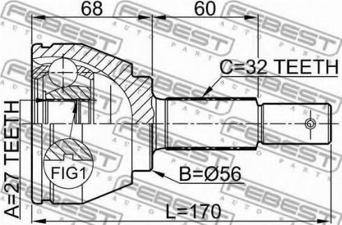 Febest 0210-A35 - Liigendlaager, veovõll japanparts.ee