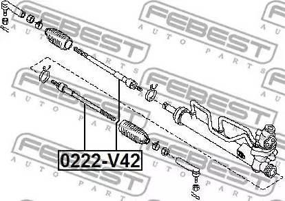 Febest 0222-V42 - Sisemine rooliots,roolivarras japanparts.ee