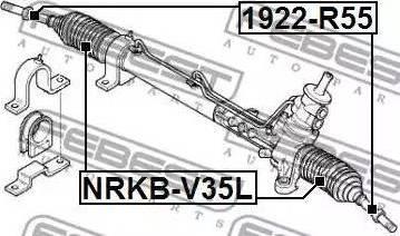 Febest 1922-R50 - Sisemine rooliots,roolivarras japanparts.ee
