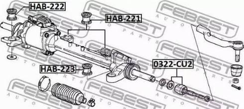 Febest HAB-221 - Paigutus,rooliajam japanparts.ee