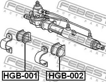 Febest HGB-001 - Paigutus,rooliajam japanparts.ee