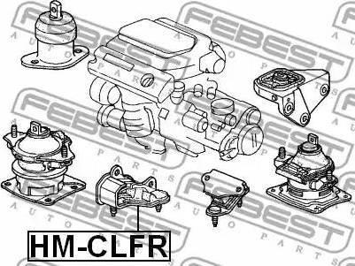 Febest HM-CLFR - Kinnitus,automaatkäigukast japanparts.ee
