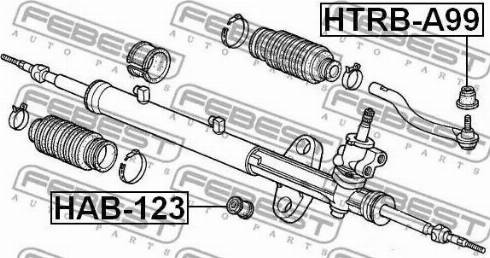 Febest HTRB-A99 - Remondikomplekt, rooliots japanparts.ee
