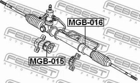 Febest MGB-016 - Paigutus,rooliajam japanparts.ee