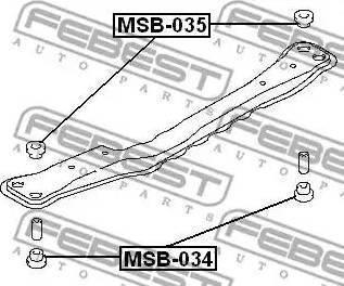 Febest MSB-034 - Kinnitus,sillatala japanparts.ee