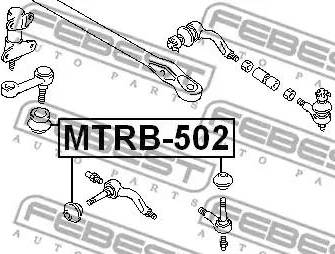 Febest MTRB-502 - Remondikomplekt, rooliots japanparts.ee