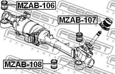 Febest MZAB-108 - Paigutus,rooliajam japanparts.ee