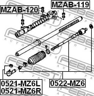 Febest MZAB-120 - Paigutus,rooliajam japanparts.ee