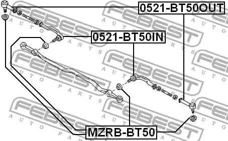 Febest MZRB-BT50 - Remondikomplekt, rooliots japanparts.ee