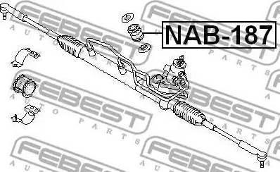Febest NAB-187 - Paigutus,rooliajam japanparts.ee