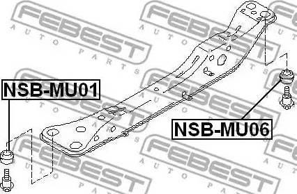 Febest NSB-MU01 - Kinnitus,sillatala japanparts.ee