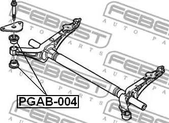 Febest PGAB-004 - Kinnitus,sillatala japanparts.ee