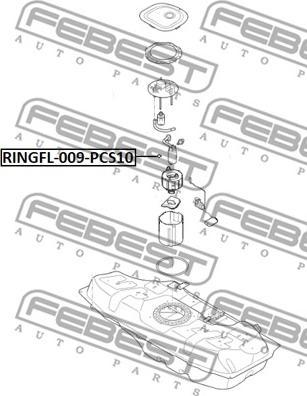 Febest RINGFL-009-PCS10 - Tihend,kütuseetteandja japanparts.ee