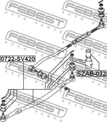 Febest SZAB-032 - Puks, roolivarras japanparts.ee