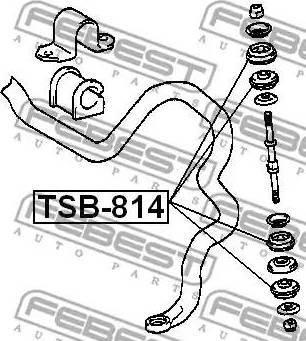 Febest TSB-814 - Paigutus,stabilisaator japanparts.ee