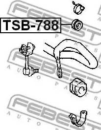 Febest TSB-788 - Paigutus,stabilisaator japanparts.ee