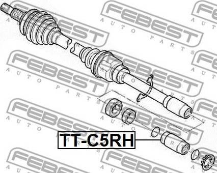 Febest TT-C5RH - Liigendlaager, veovõll japanparts.ee