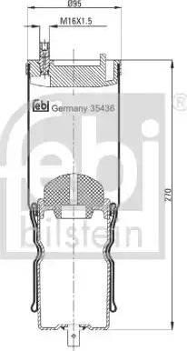 Febi Bilstein 35436 - Lõõts,kabiinikinnitus japanparts.ee