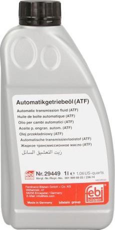 Febi Bilstein 29449 - Automaatkäigukasti õli japanparts.ee