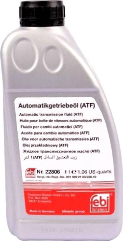 Febi Bilstein 22806 - Automaatkäigukasti õli japanparts.ee